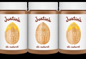Jars of Justins peanut butter