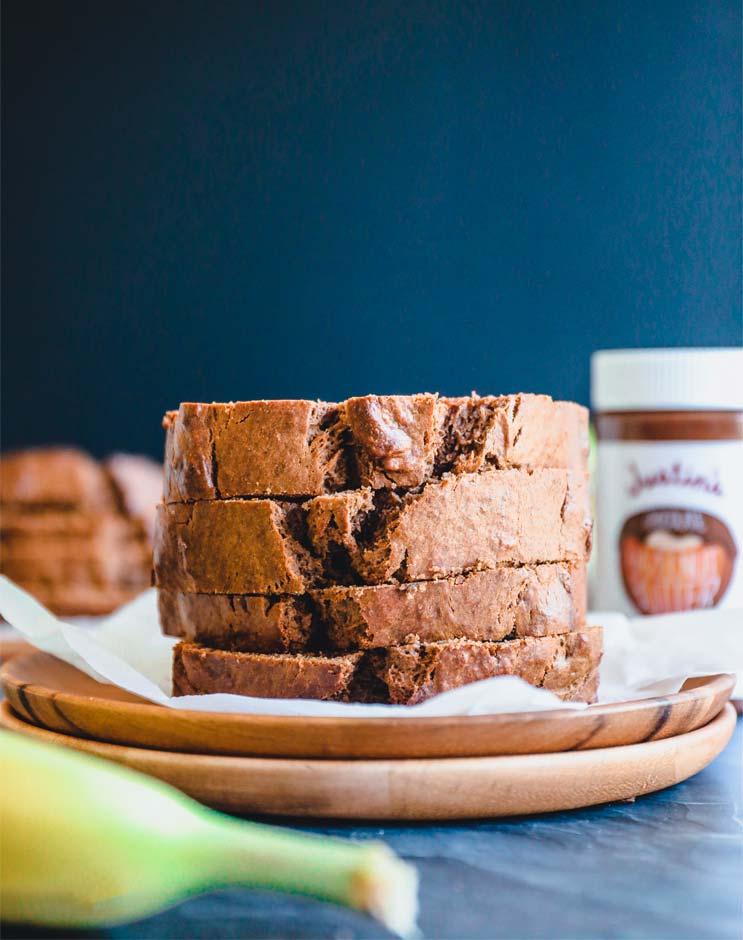 DAIRY-FREE CHOCOLATE HAZELNUT BANANA BREAD recipe