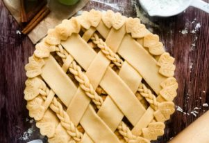 MAPLE ALMOND BUTTER APPLE PIE