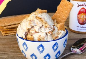 MAPLE ALMOND BUTTER CHEESECAKE ICE CREAM (VEGAN)