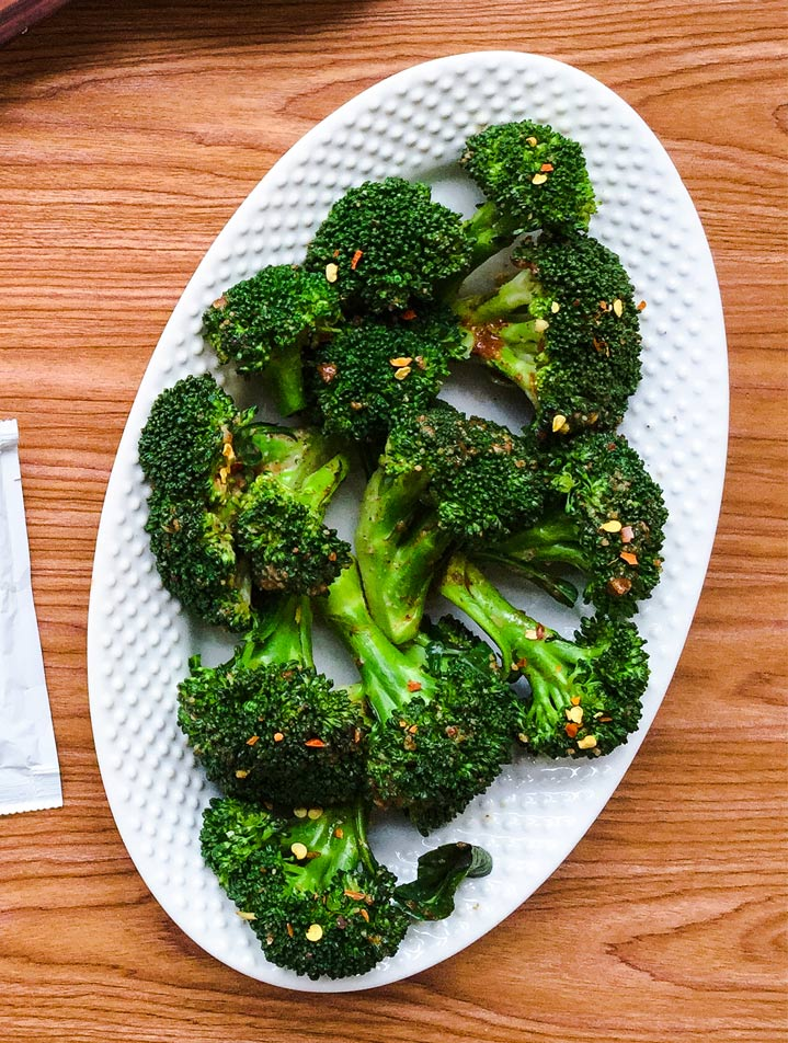 NUTTY ALMOND BUTTER BROCCOLI SALAD
